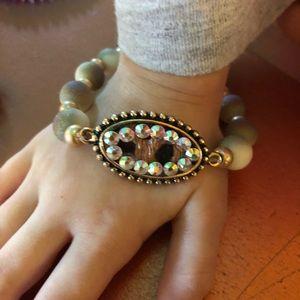 Jewelry - Faux Fur beaded bracelet